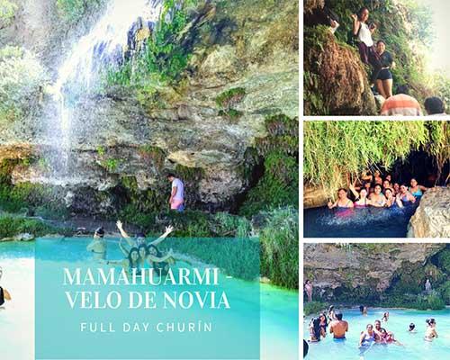 fotos de las aguas termales de mamahuarmi y velo de novia en churín